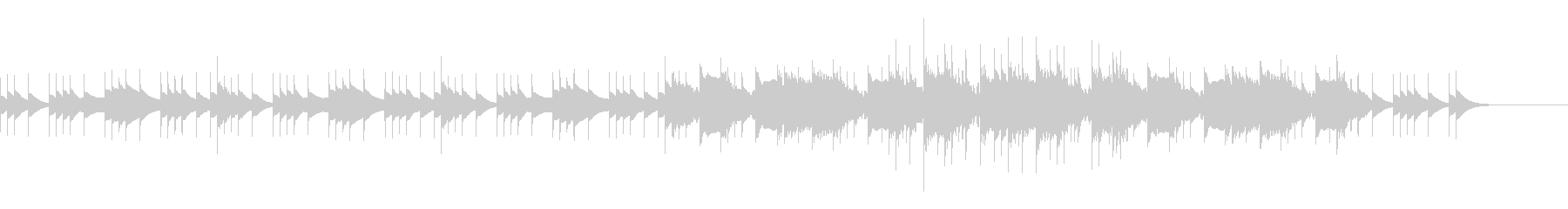 ハイテンポ、ノービートバージョンの未再生の波形