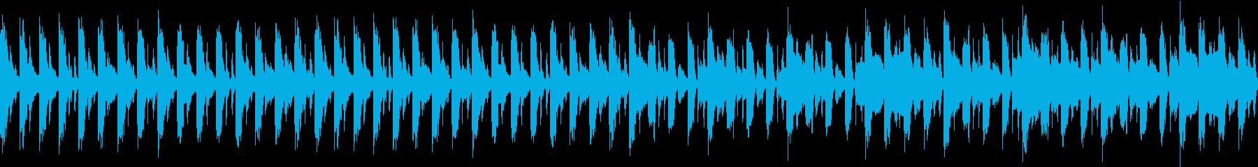 サスペンス系ループBGMの再生済みの波形