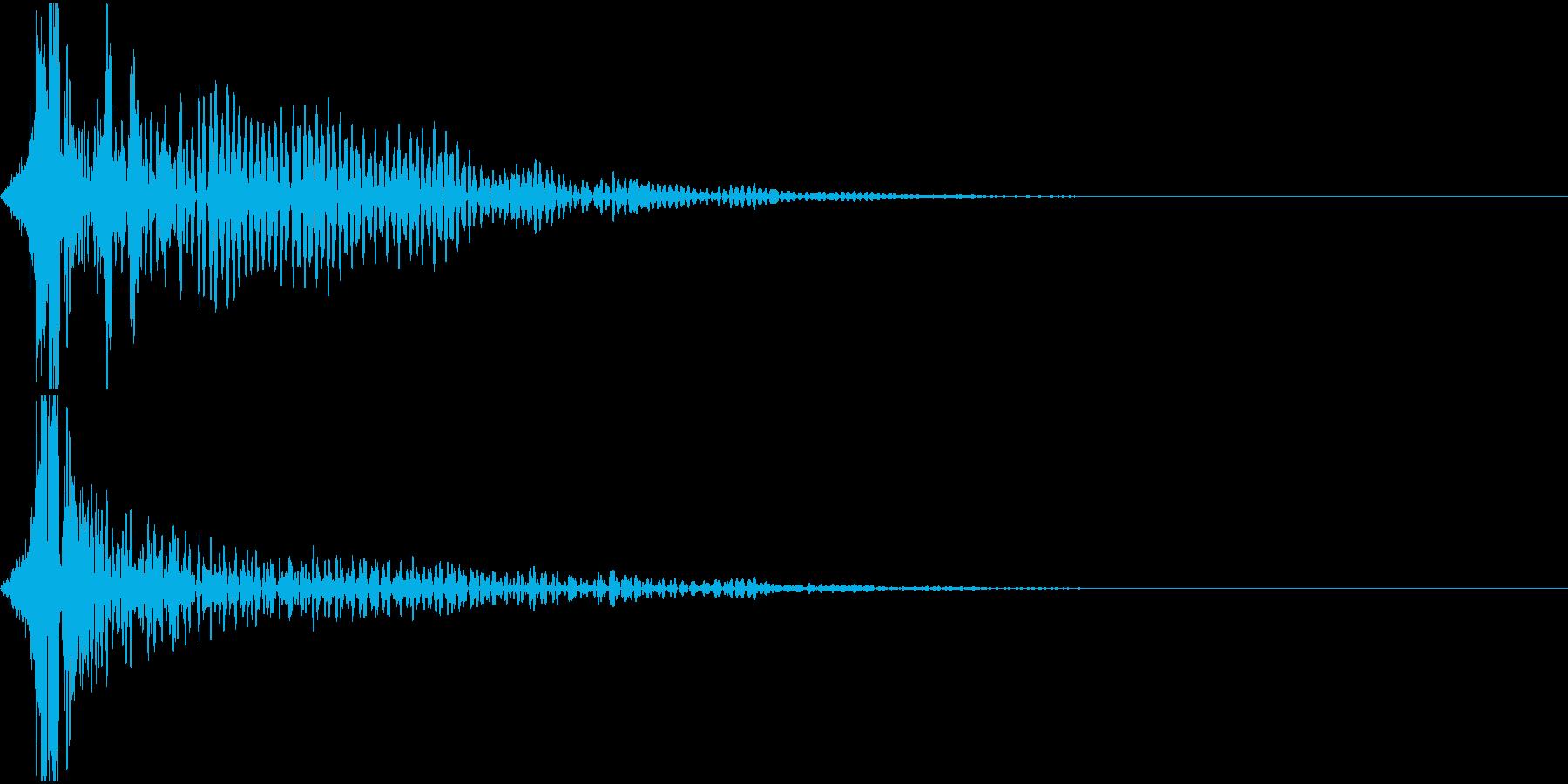 シネマチックなインパクト(衝撃)音の再生済みの波形