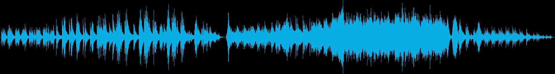 ピアノソロから一気に壮大になるBGM!の再生済みの波形
