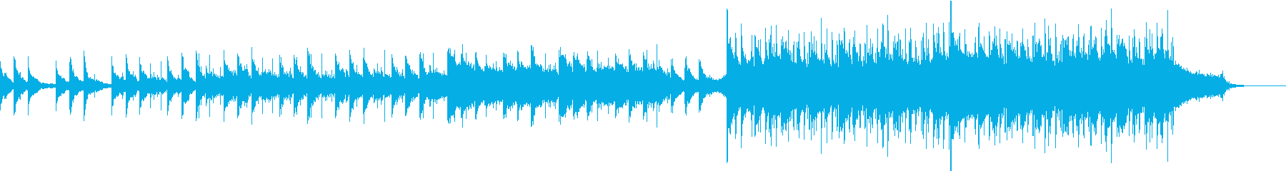 壮大で感動的なBGMの再生済みの波形