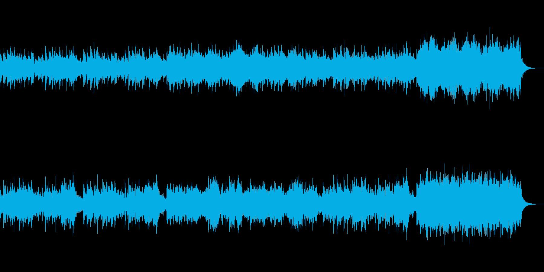 キラキラした音をたくさん使った星の幻想曲の再生済みの波形