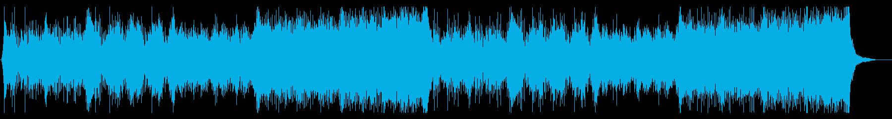 ミステリアスな事件を調査するダークBGMの再生済みの波形