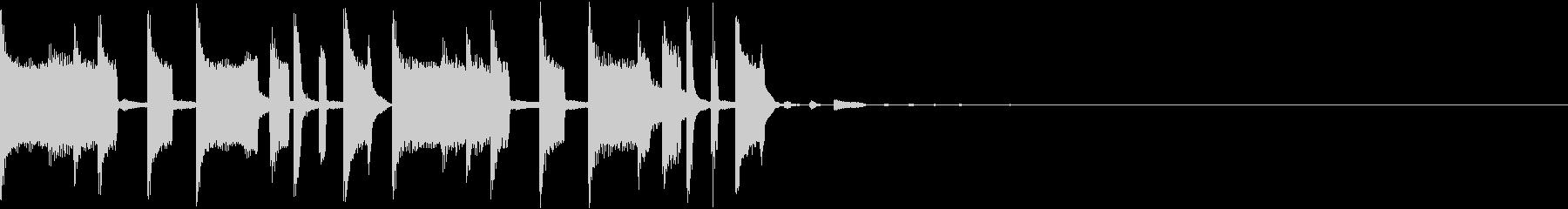 キャッチーなトラップジングル3の未再生の波形
