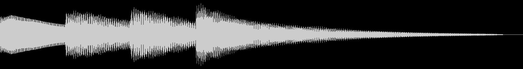 ピンポンパンポン/お知らせ/チャイムの未再生の波形