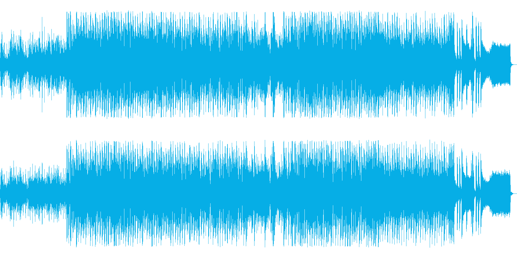 疾走感のある明るいポップスの再生済みの波形