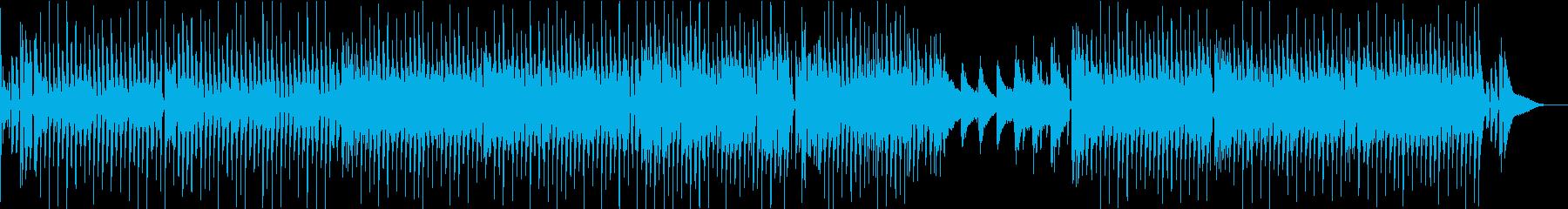 陽気なブルース調のポップスの再生済みの波形