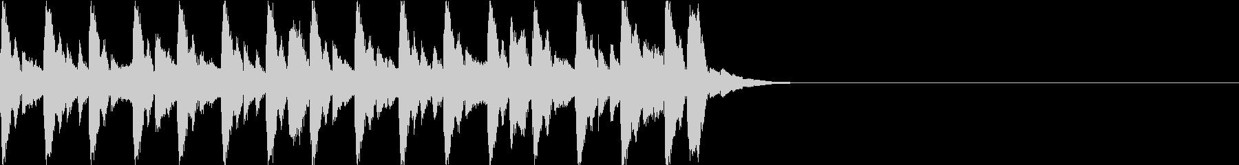 テクノポップのスタイリッシュなジングルの未再生の波形