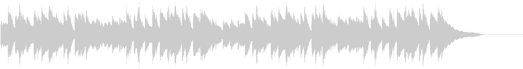動画広告 30秒 ソロピアノ 日常の未再生の波形