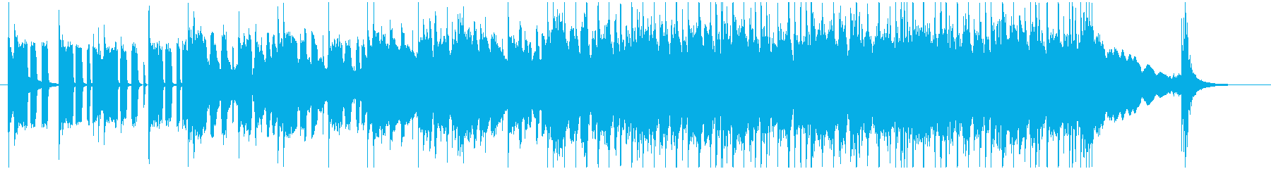 ロックでブルースなギターのジングルの再生済みの波形