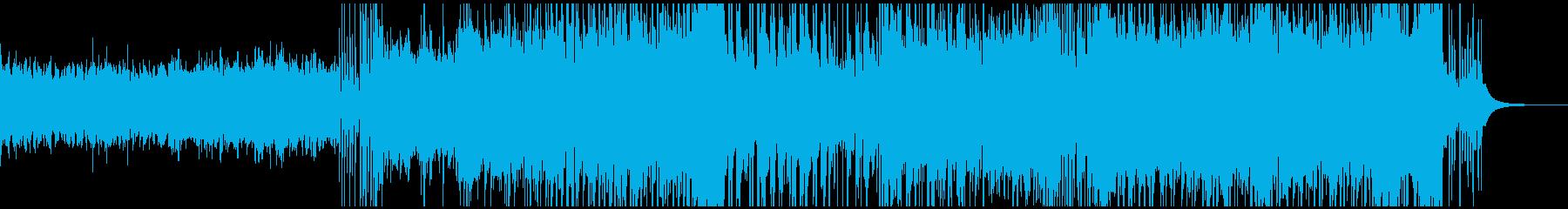 爽やかバトル系インストの再生済みの波形