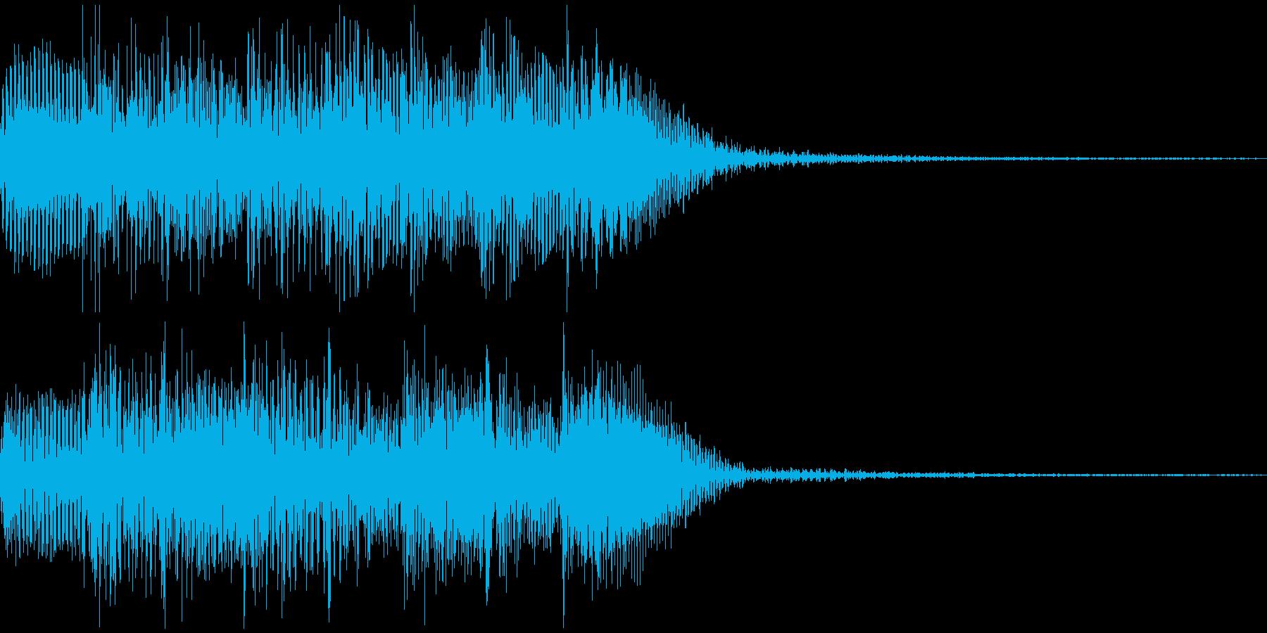 不穏なピアノのSE的音源です。の再生済みの波形
