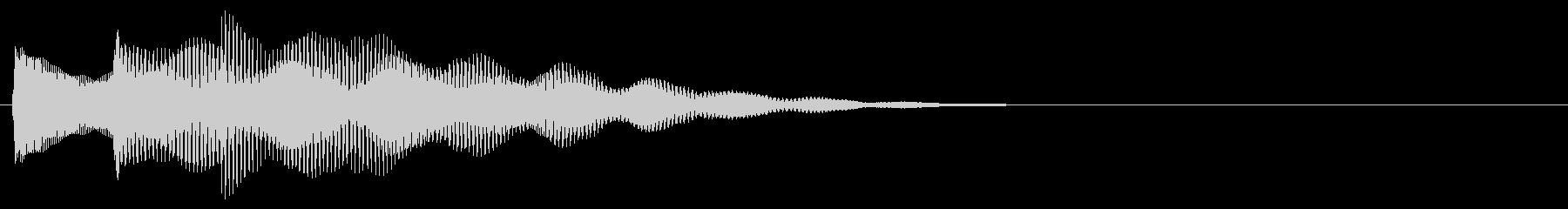 マレット系 決定音07(中)の未再生の波形
