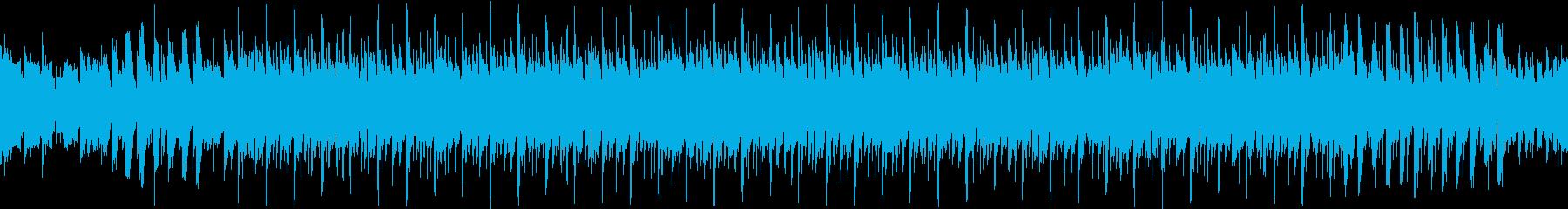 ピアノとシンセのワクワクするループ曲の再生済みの波形