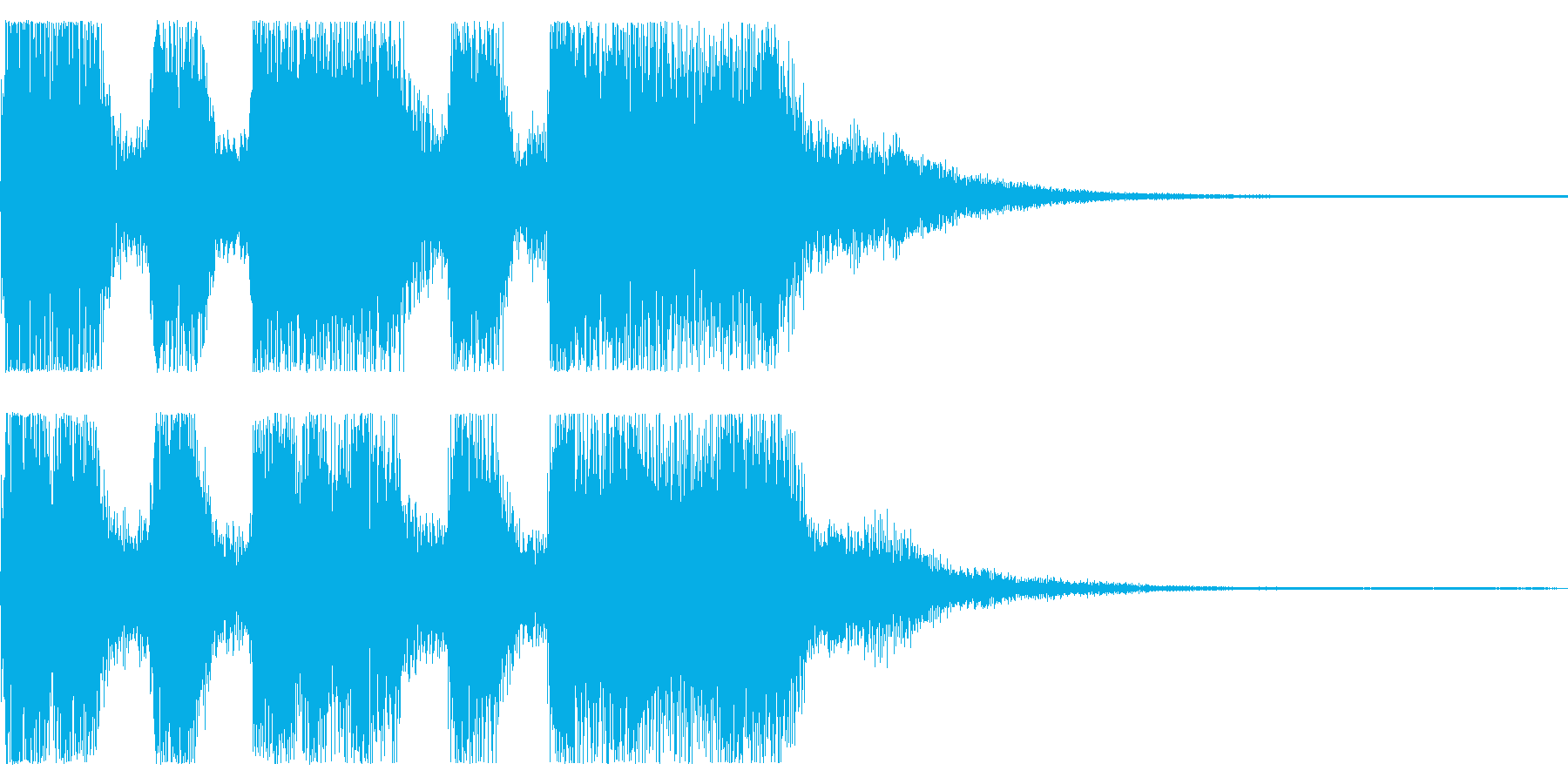 勝利 ゲームクリアなどでのファンファーレの再生済みの波形