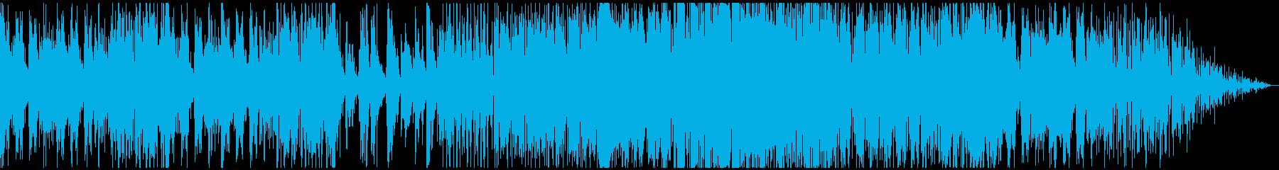 柔らかいシンセ&アコースティックサウンドの再生済みの波形