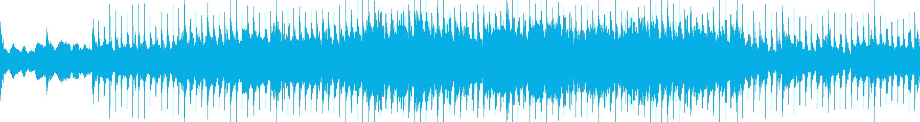 太陽が昇るイメージのループ曲の再生済みの波形