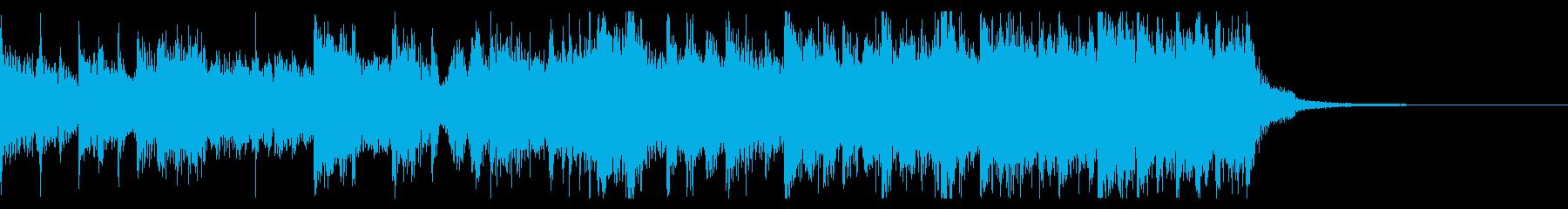 レトロオルガンが輝く8小節の再生済みの波形