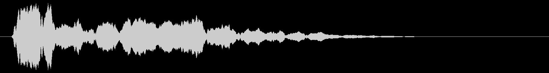 シャーン(頭に響く鈴の音)の未再生の波形