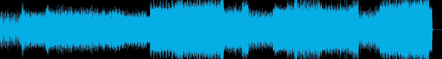 幻想的で激しい疾走感のある過激なテクノの再生済みの波形