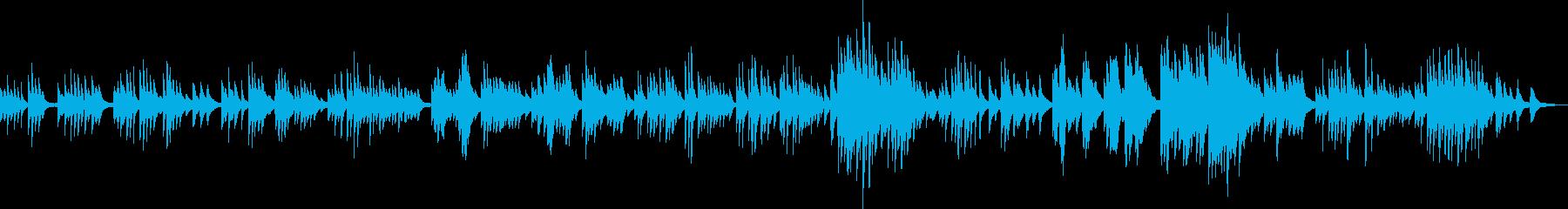 悲しい旋律のピアノソロ曲の再生済みの波形