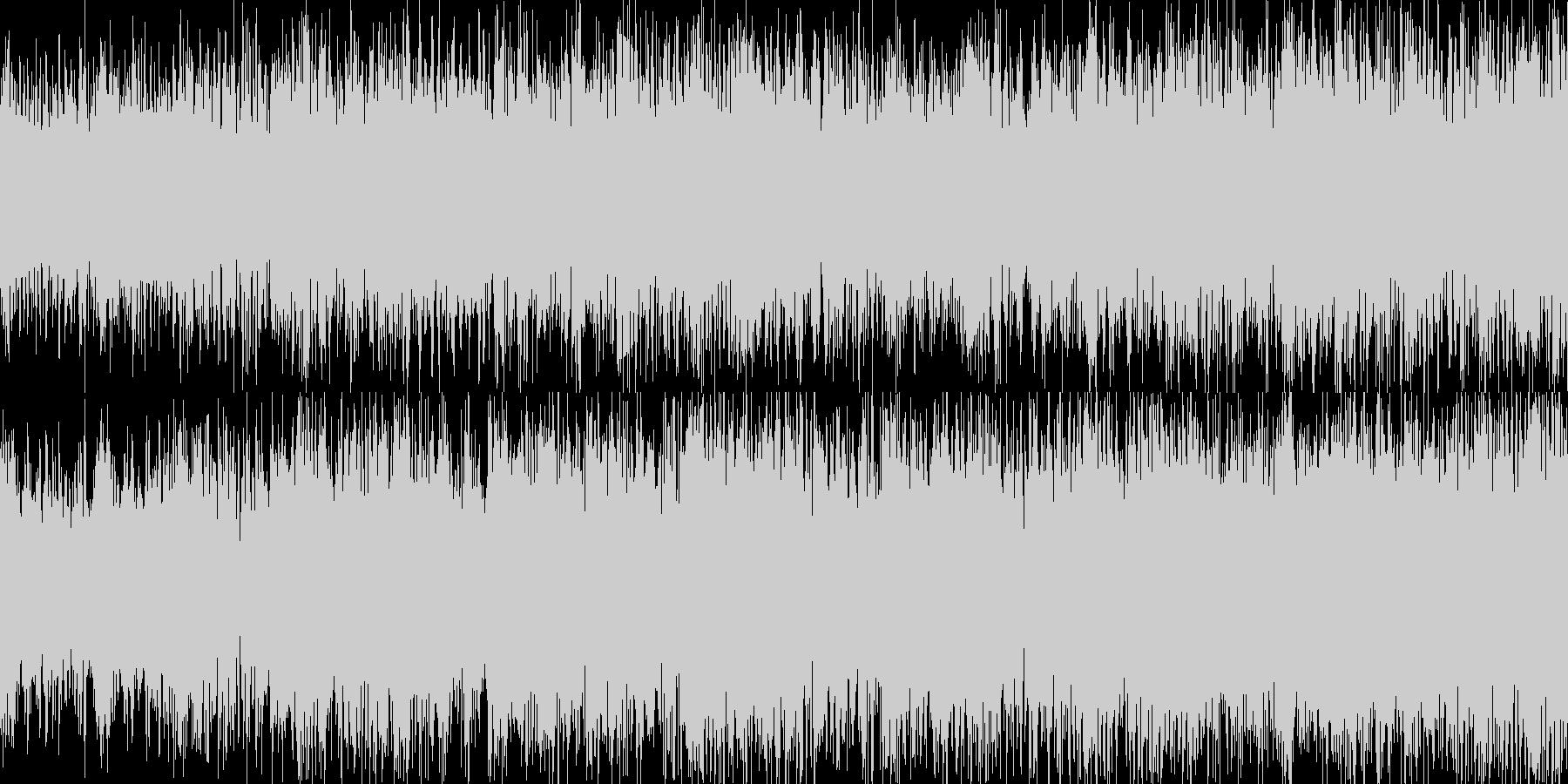 攻撃的なヘビーEギターデジタルサウンドの未再生の波形