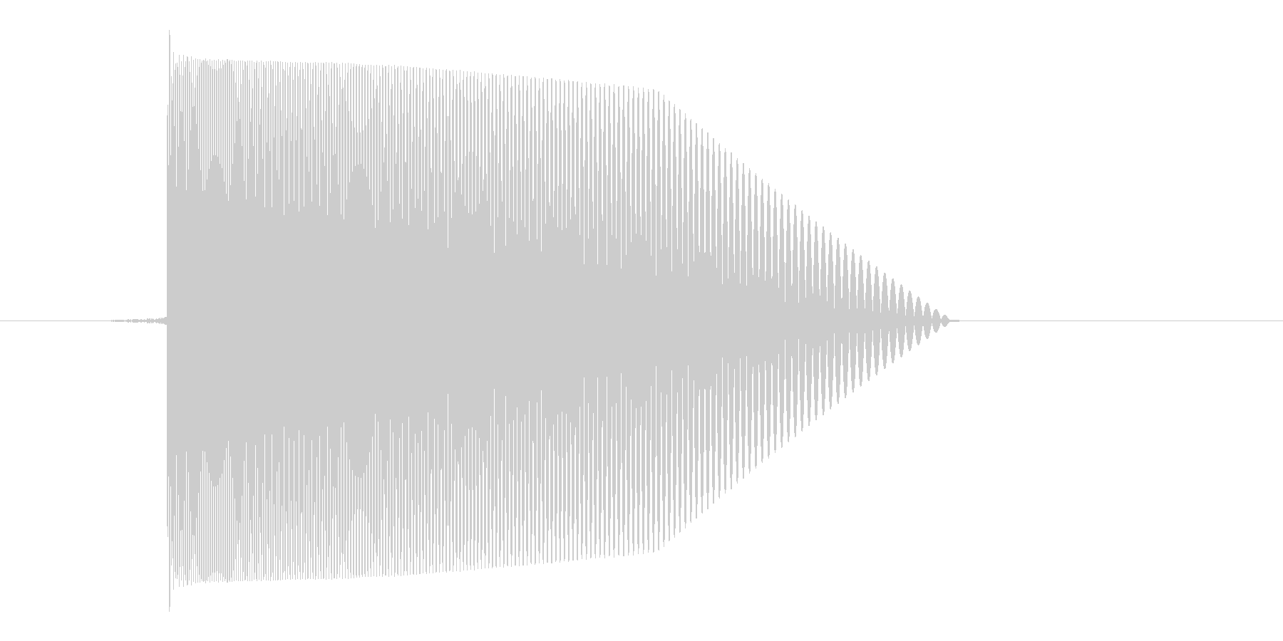 ゲーム(ファミコン風)レーザー音_035の未再生の波形
