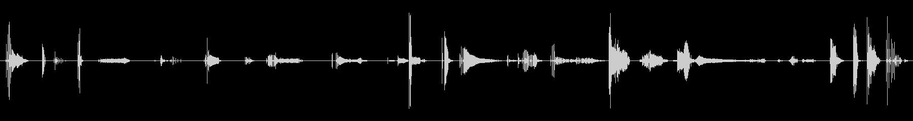 複数のオナラの未再生の波形