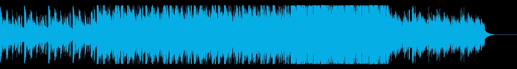 ハロウィンや可愛いおばけのインストの再生済みの波形