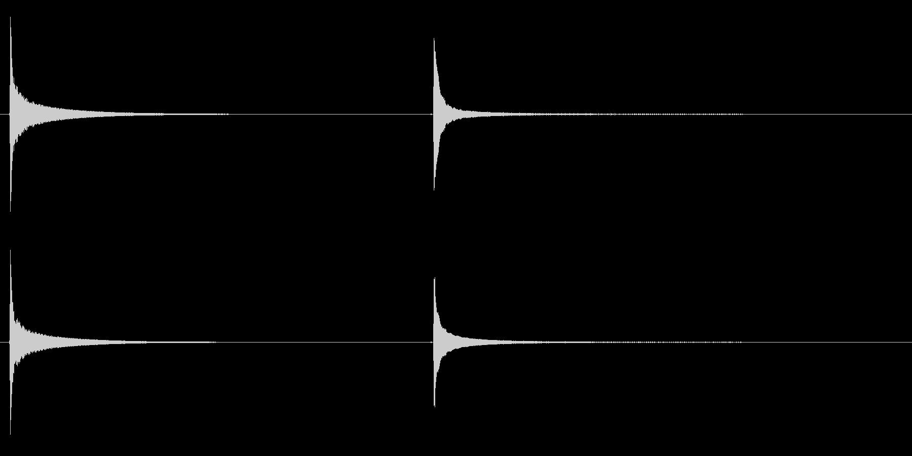 長いリングオフ、近い視点での卵タイ...の未再生の波形