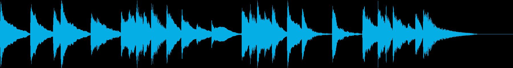 表彰式の音楽_和風アレンジの再生済みの波形