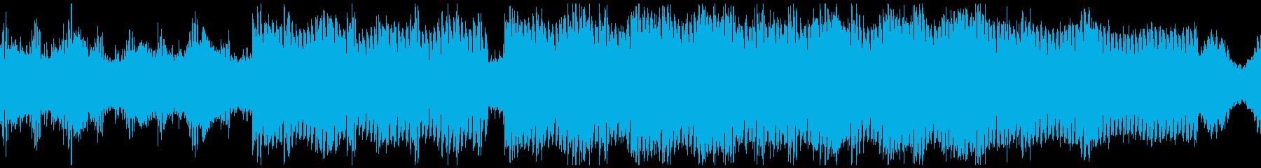 ビート感のあるアンビエントテクノの再生済みの波形