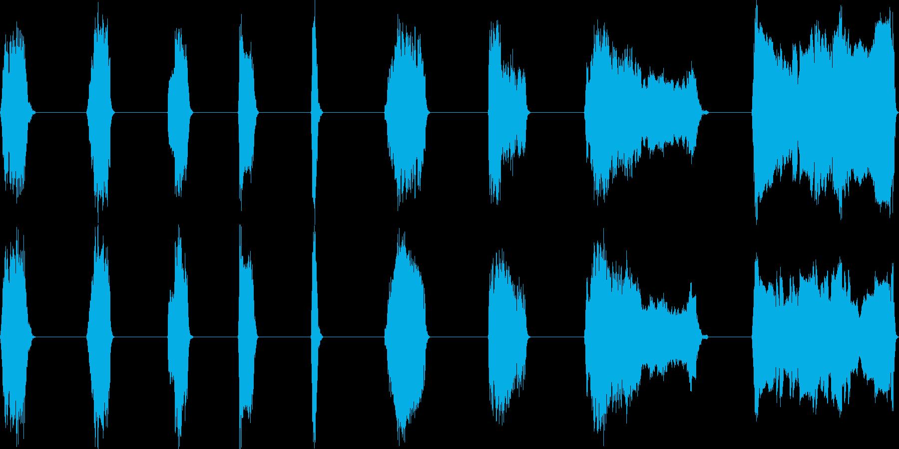 子供、12歳、叫び、高、9バージョ...の再生済みの波形