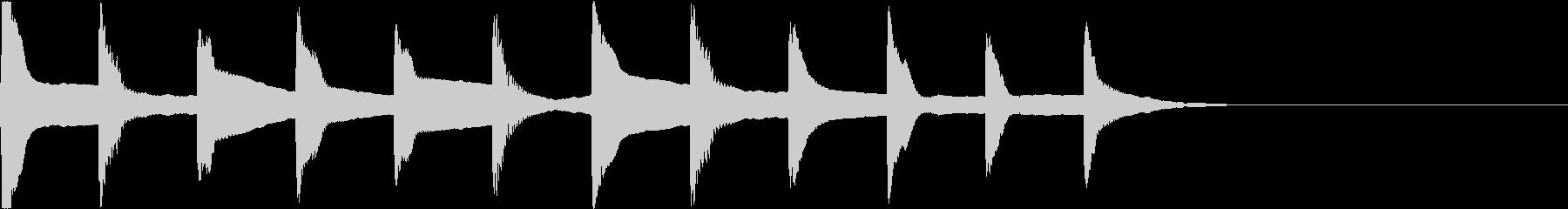 着信音 ループ お知らせ 通知 2の未再生の波形