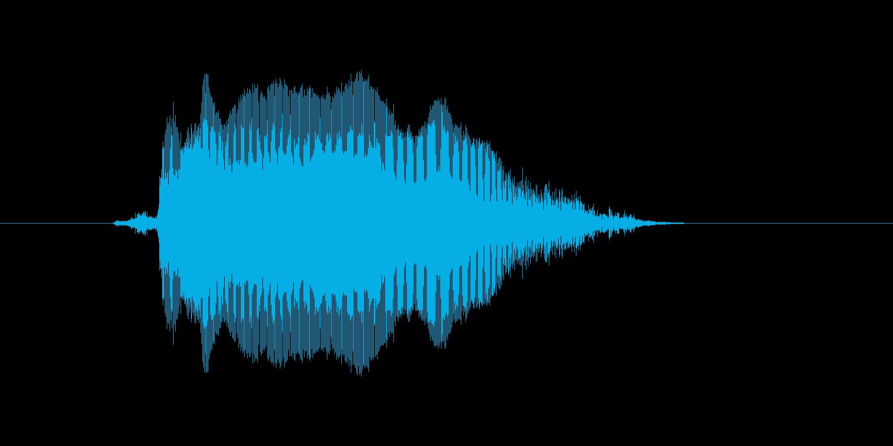 キャー!の再生済みの波形
