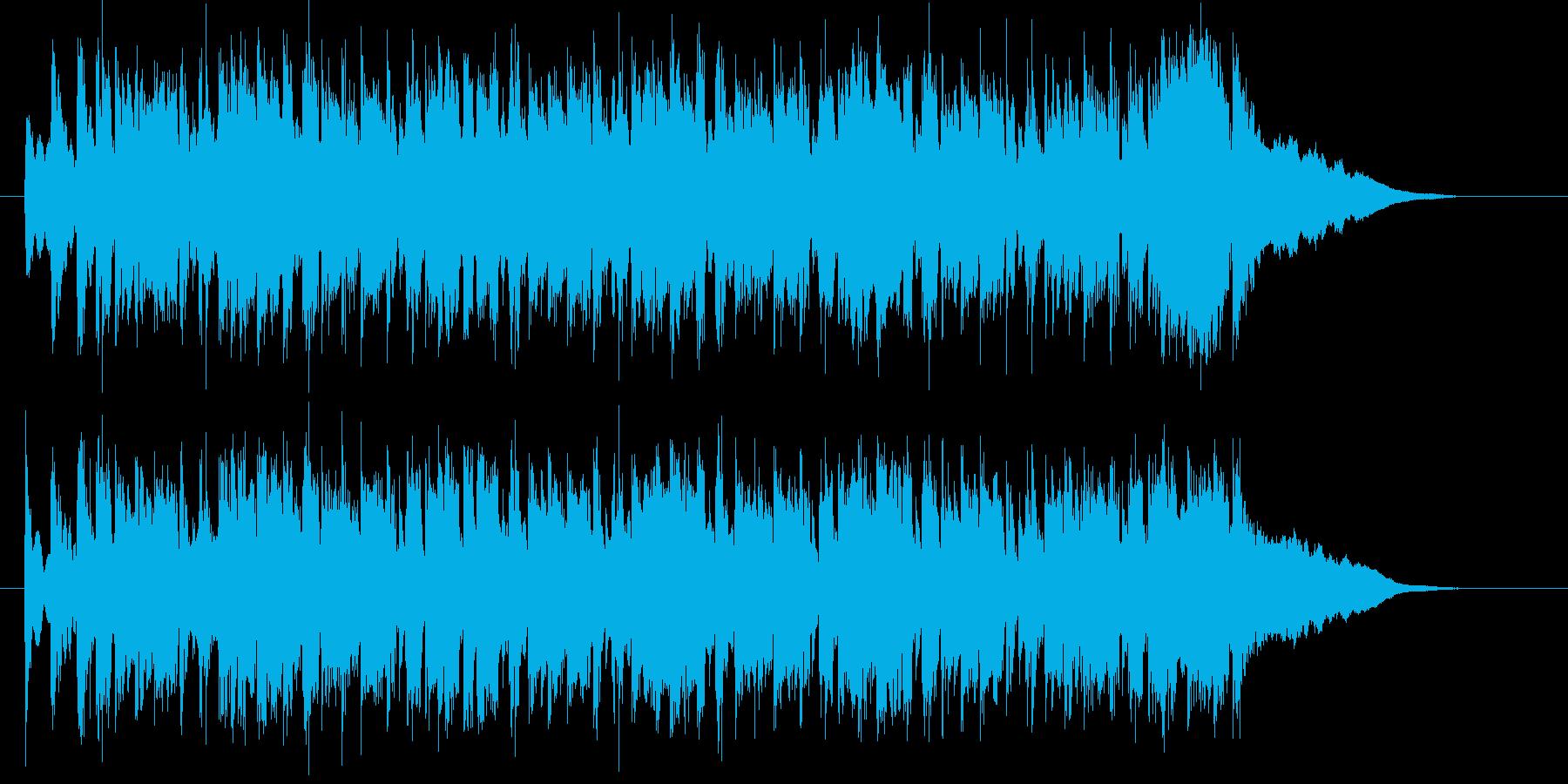 優しく穏やかで可憐なシンセポップジングルの再生済みの波形
