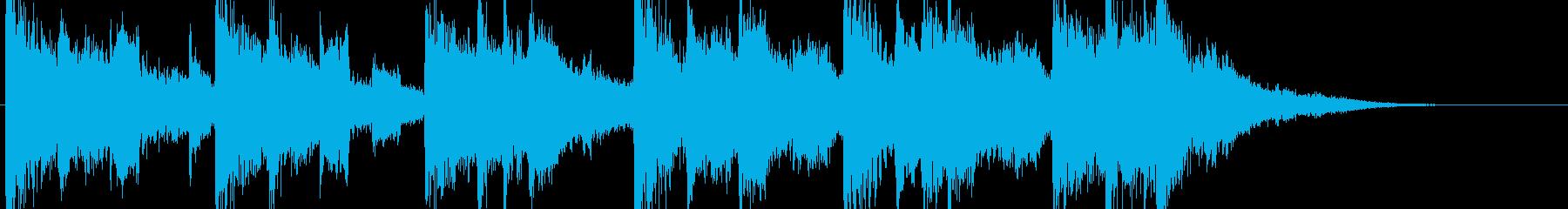 和風CM企業VP用の琴和太鼓の再生済みの波形