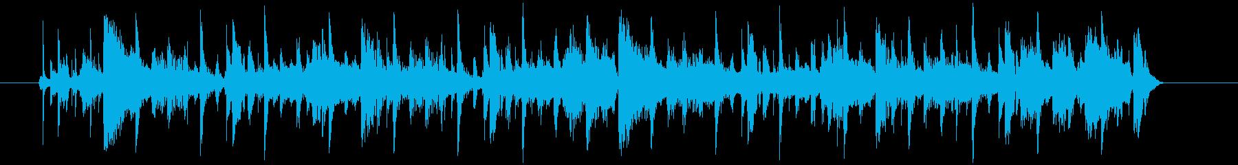 疾走感とドキドキ感のシンセテクノサウンドの再生済みの波形