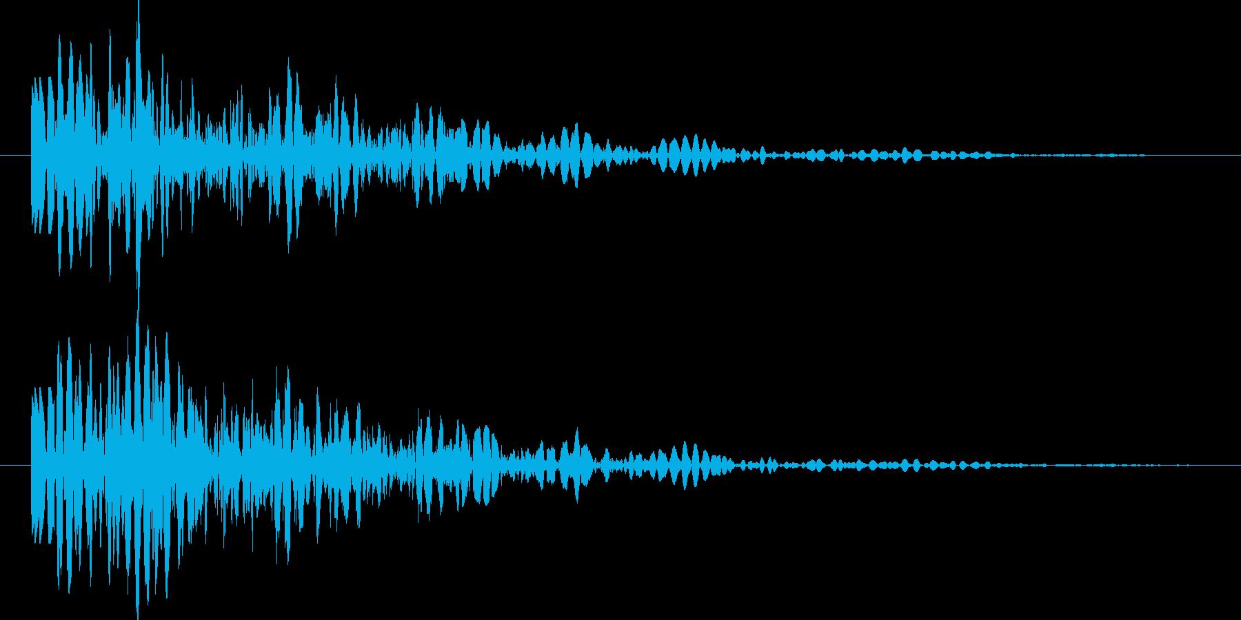 ゲーム ブロック・ロゴ落下 ドコーンの再生済みの波形