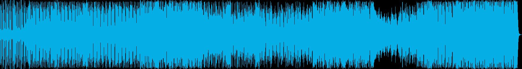ヒップホップ風のリズムのR&Bの再生済みの波形
