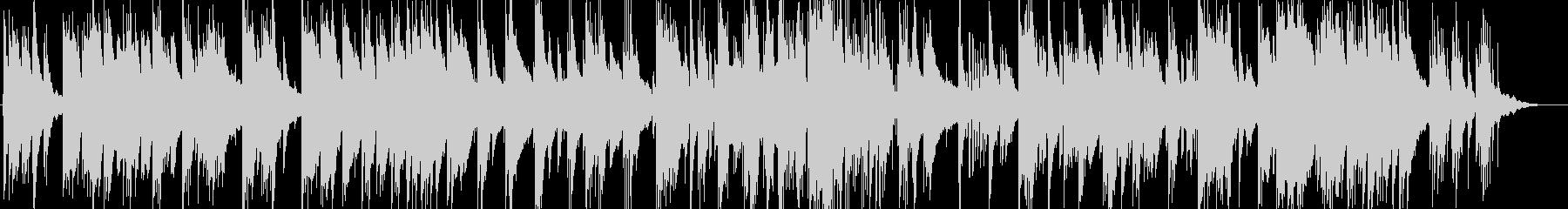 暖かい雰囲気のピアノトリオのバラードの未再生の波形