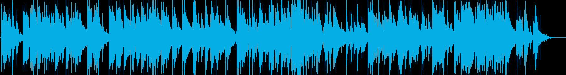 暖かい雰囲気のピアノトリオのバラードの再生済みの波形