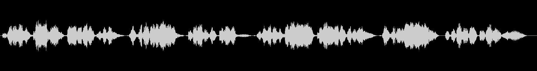 唱歌「ふるさと」のフルート独奏の未再生の波形