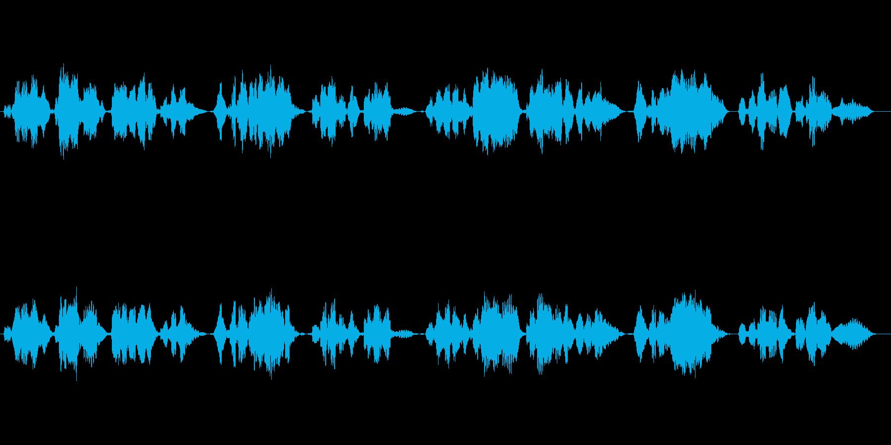 唱歌「ふるさと」のフルート独奏の再生済みの波形