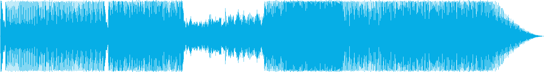 ループ溝とハモンドのみの再生済みの波形