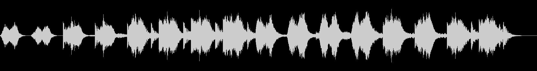 ドラマチックなアンビエントの未再生の波形