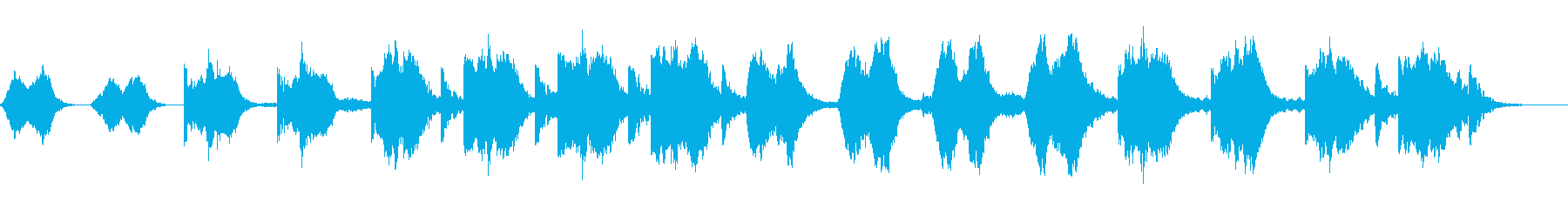 ドラマチックなアンビエントの再生済みの波形