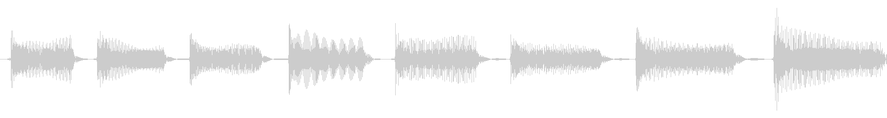 電話13の未再生の波形