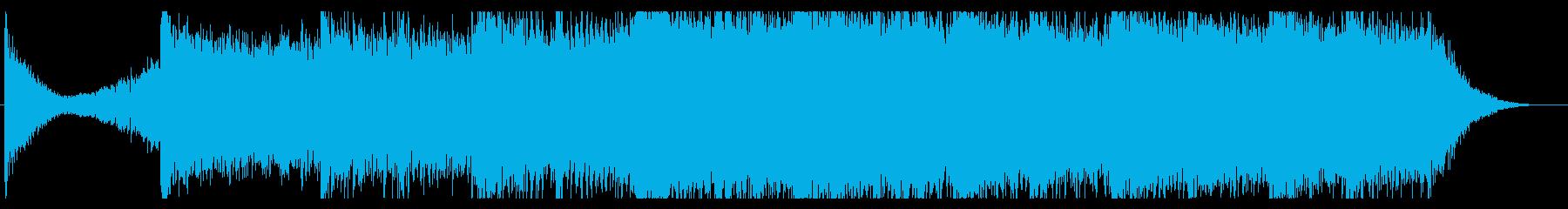 近未来的でダークなスピード感あるBGMの再生済みの波形