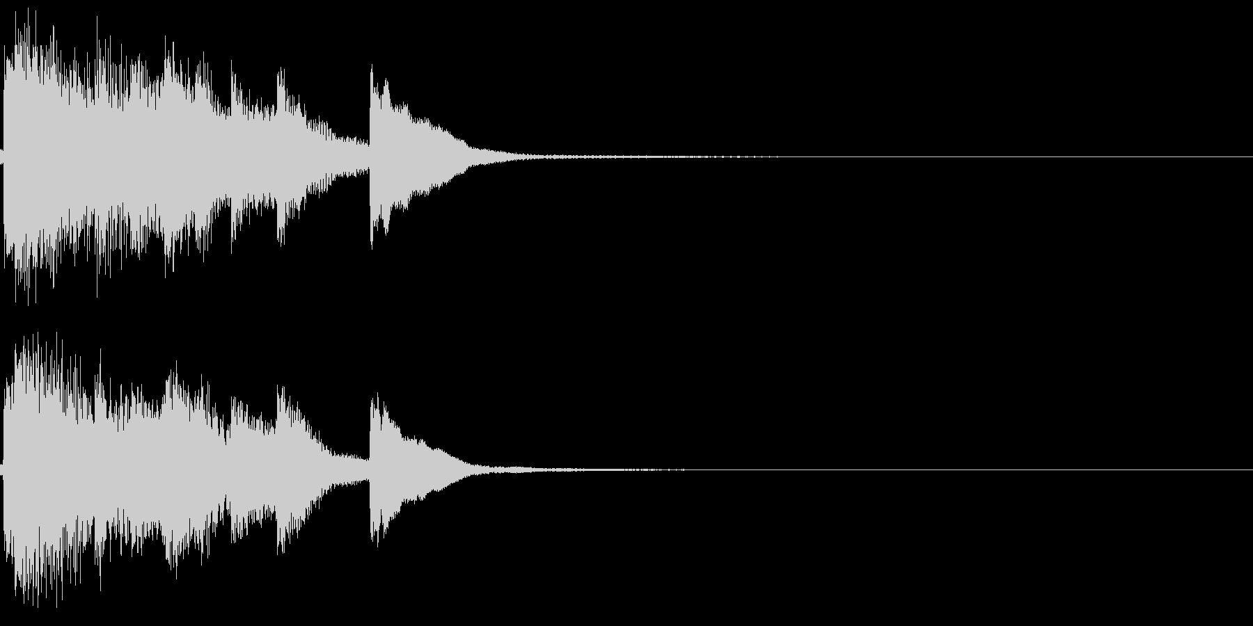 和風 箏(琴)上がっていく音3の未再生の波形